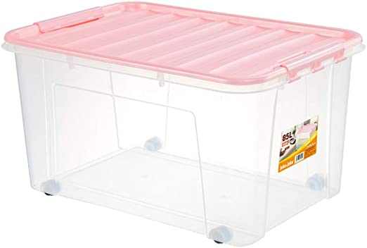Cajas de almacenamiento de plástico con tapas Polea transparente ...