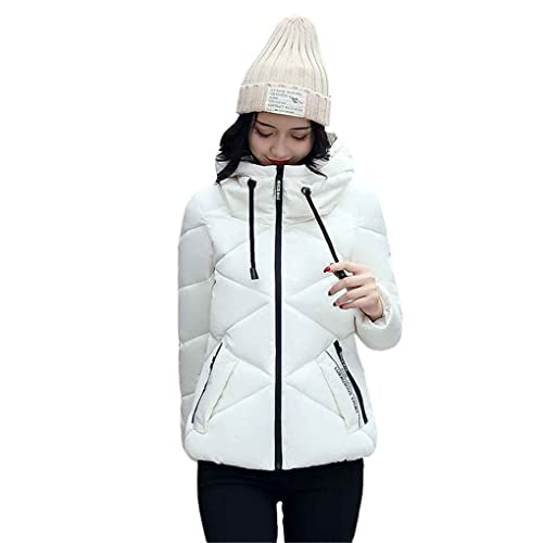 Ranboo invierno mujer abajo chaqueta de algodón corto acolchado Tops cremallera abrigo Outwear