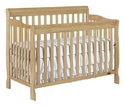 Pine Finish Bed (Dream On Me Ashton 5 in 1 Convertible Crib, Natural)