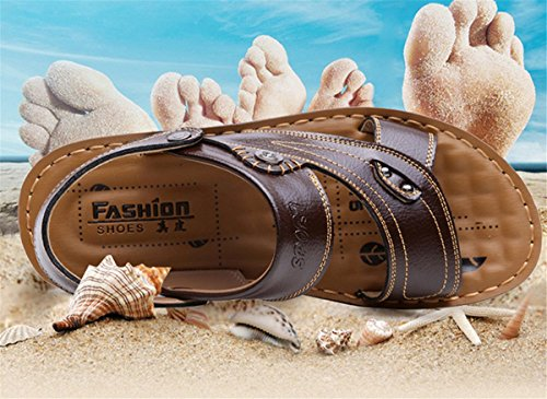 Clogs Gr LOBTY Zehentrenner Sandalen Bio Flats Schuhe Slipper Pantoletten 38 Sommer Herren Zehentrenner 44 Braun waPapqI