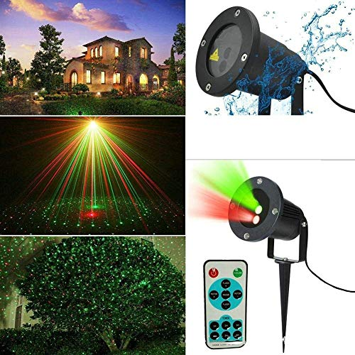 HAOMEI LED Landscape Projector Remote Control 12 Pattern Outdoor Lights, Double-Hole Lights, Christmas Lights, Waterproof Lights]()