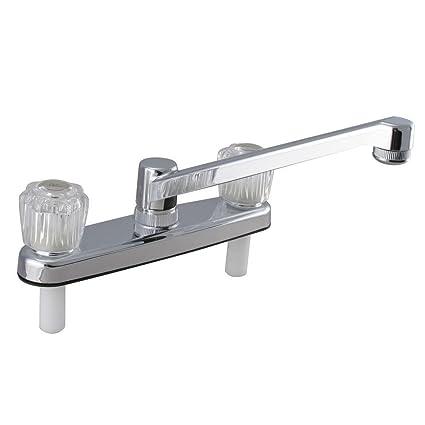 Westbrass NM2K-26 2-Handle non-Metallic Kitchen Faucet, Polished ...