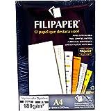 Papel opaline branco 180g A4 50 folhas Filiperson