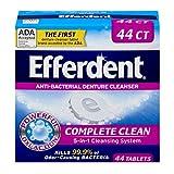 Efferdent Anti-Bacterial Denture Cleanser Tablets, 40 Count