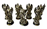 8'' Tall Set of 7 Orthodox Catholic Church Archangel Saint Michael Gabriel Barachiel Sealtiel Jehudiel Uriel Raphael Decorative Figurines