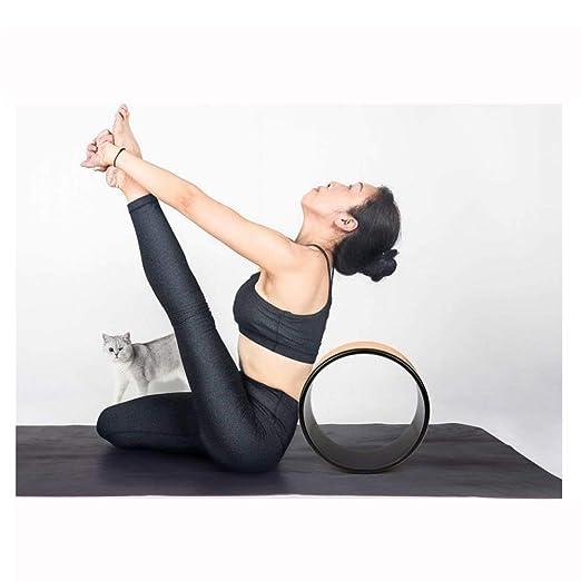 Rueda de Yoga de Corcho para posturas de Yoga Rueda de Apoyo ...