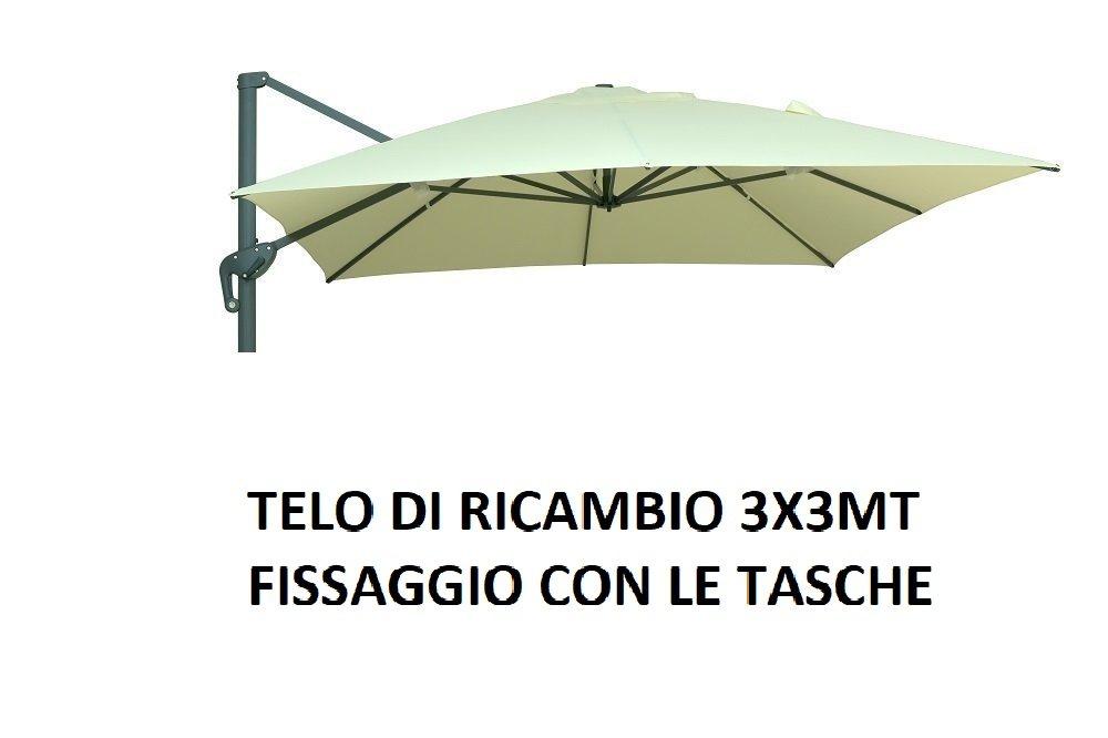 Megashopitalia Telo di Ricambio per Ombrellone Decentrato Alluminio 3x3 MT con Airvent 220Gr//MQ