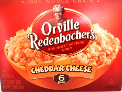 Cheddar Cheese Popcorn - Orville Redenbacher's Gourmet Popping Corn Cheddar Cheese , 6 Bags(Pack of 2)