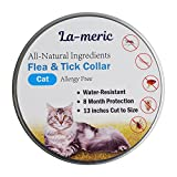 Dog Flea Treatment Collar - La-Meric Flea and Tick Prevention Collar for Cat,Flea Tick Control and Treatment,8 Month Protection,Odorless,Allergy-Free and Water-Resistant