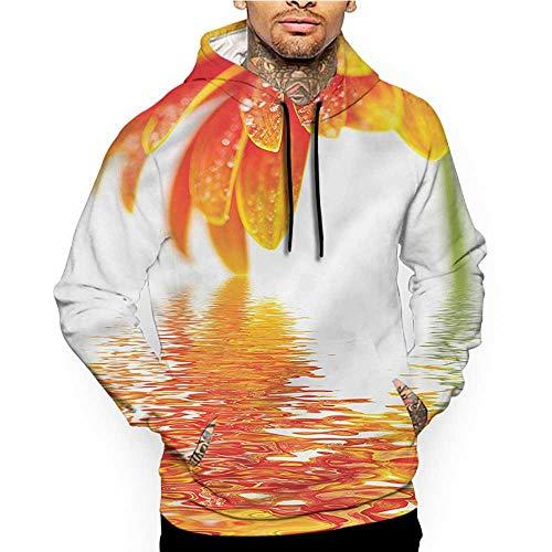 Hoodies SweatshirtMen 3D Print Flower,Ombre Tropical Garden,Sweatshirts for Teens