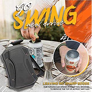 Fast Shipping Go Swing Topless Can Opener, 1Pc Beverage & Beer Can Opener, Manual Smooth Edge Can Opener,Portable Safe Cut Can Opener Cutter,No Sharp Edges Leaving,Food Grade Can Opener with Inner Box