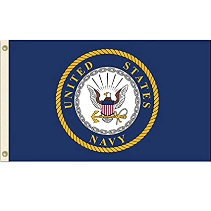 Amazon United States Navy Flag Usn Emblem Banner Us Military