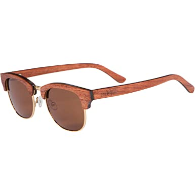 5332df9cfb RawWood Vince Wood Sunglasses Clubmaster Browline Sunglasses Wooden (brown