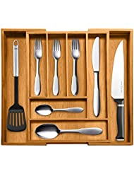Top Rated Bellemain 100% Pure Bamboo Expandable, Utensil   Cutlery And  Utility Drawer Organizer