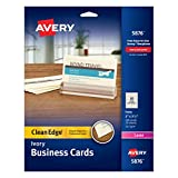 Avery Clean Edge Business Cards, 2 x 3.5 Inches, Pack of 200 (05876)