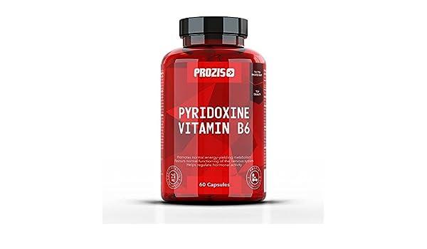 Prozis Pyridoxine Vitamin B6-60 Cápsulas: Amazon.es: Salud y cuidado personal