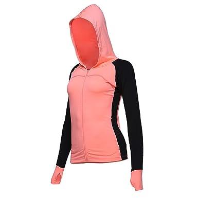 c138b4b4ff5 VANSYDICAL Women Sports Running Jackets Long Sleeve Zipper Yoga Tops  Breathable Workout XXL Jacket Outdoor Training
