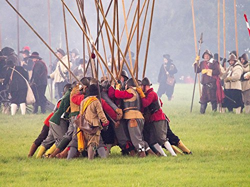 Gifts Delight Laminated 32x24 inches Poster: Battle Soldier Artillery Weapon Historical Reenacting English Civil War Reenactment History Army Battlefield