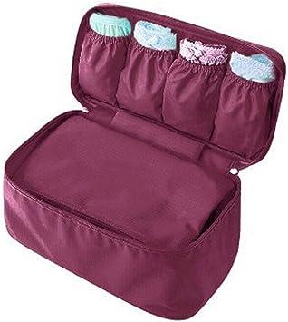 Storage Bag Practical YaptheS Packing Organizer Bra Underwear Storage Bag Travel Lingerie Pouch Toiletry Organizer Clothing Packing Watertproof Bag Red Wine
