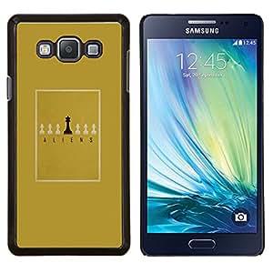 Stuss Case / Funda Carcasa protectora - Juego de mesa minimalista Oro del Rey - Samsung Galaxy A7 ( A7000 )
