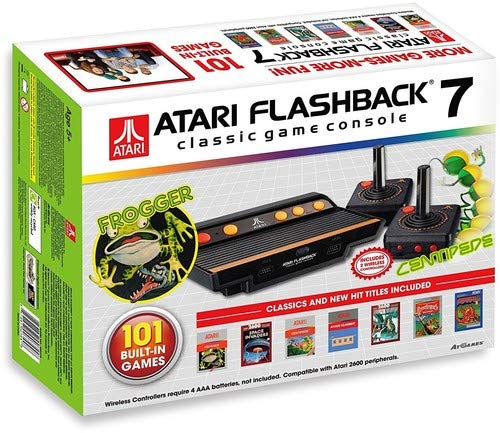 Atari Flashback 7 Classic Game Console with 2 Controllers (Atari Flashback 7 Deluxe Special Edition 101 Games)