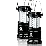 LED Camping Lantern - Etekcity 2 Pack Portable Outdoor LED Camping Lantern with 6 AA Batteries, Collapsible(Certified Refurbished)