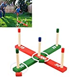 Evelyn Living Ring Toss Game Garden Indoor Outdoor Quoits Family Fun Pegs And Ropes Hoopla