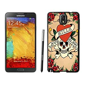 Fashion Designed Cover Case For Samsung Galaxy Note 3 N900A N900V N900P N900T With Ed Hardy 11 Black Phone Case