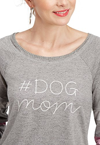 maurices Women's #Dogmom Embroidered Football Sweatshirt Large Gray ()
