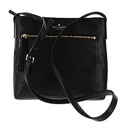 Kate Spade New York Chester Street Dessi Pebbled Leather Shoulder Crossbody Bag Black