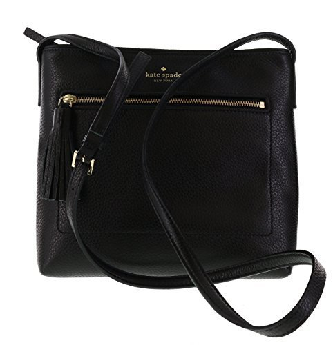Kate Spade New York Chester Street Dessi Pebbled Leather Shoulder/Crossbody Bag (Black) from Kate Spade New York