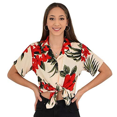 (Favant Ladies Shirt (Cream & Red Leaf, XL))