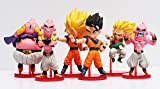 Smart Buy 6Pcs/Set Japanese Anime Dbz Dragon Ball Z Majin Buu Gotenks Saiyan Son Goku Gohan Pvc Action Figures
