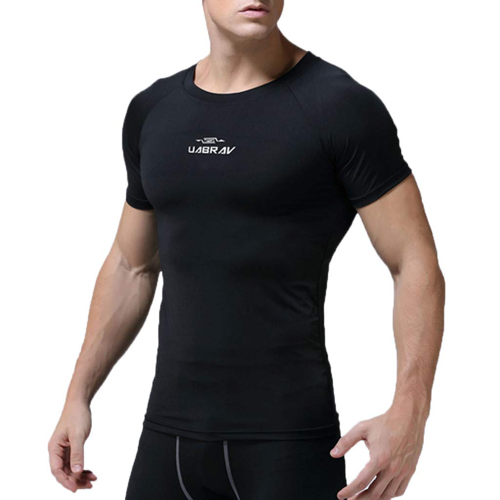 T-Shirts for Men with Pocket,Mens New Fitness Training Clothes Short Sleeve Blouse Outdoor Sports Blouse Top,Dog Squeak Toys,Black,XXL