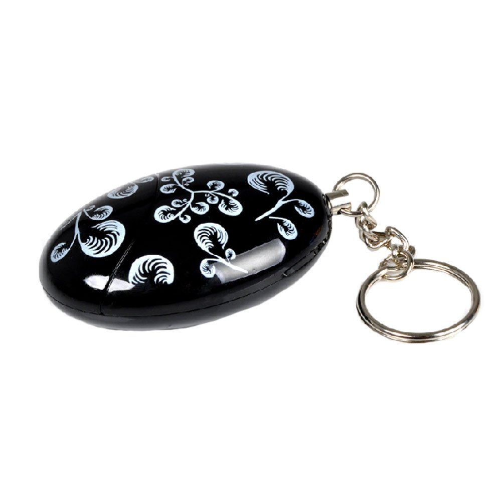 Emergency Protective Personal Security Keychain Alarm - Black Kylin Express