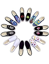 Fashion Hand Painted Canvas Shoes Women Men Casual Loafers Slip On Outdoor Sneakers Espadrilles