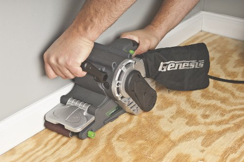 Genesis GBS321A 3-Inch-by-21-Inch Variable Speed Belt Sander with Cloth Dust Bag, Grey by Genesis (Image #1)