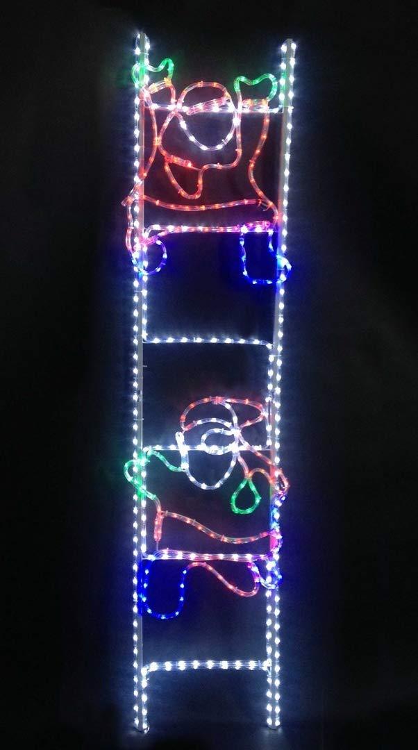 Christmas Concepts® Santa Climbing Ladder Rope Light Christmas Decoration With Multi LED Lights - 48cm x 200cm