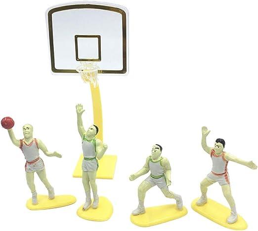 Amosfun Jugador de baloncesto Cake Toppers Decoraciones para ...