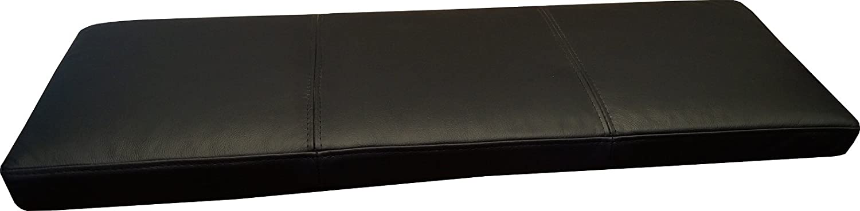 Schwarzes Echtleder Bankauflage 50x160 cm Sitzkissen Lederkissen Sitzpolster Bank Auflage Echt Leder Kissen Sitzauflage