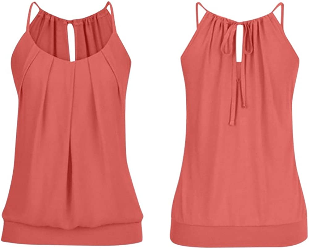Red Crop Top Women/'s Girls Ladies Cagged Fitted Vest Tank Plunge Neck Pull On