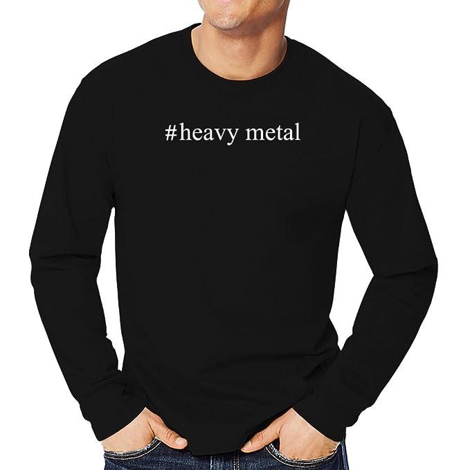 Teeburon Heavy Metal Hashtag Camiseta manga larga
