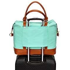 This tote bag can serve as a carry-on item for most airlines. Features - Fashion small overnight bags for women, perfect for everyday use with all your daily bits. - A great gift choice, it fits for outdoor, travel, shopping, beach, school, w...