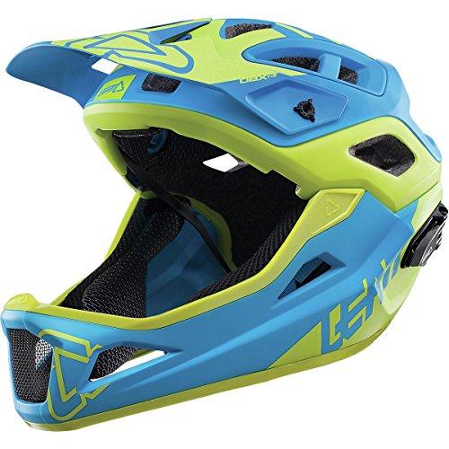 Cheap Leatt DBX 3.0 Enduro V1 Bicycle Helmet-Blue/Lime-L