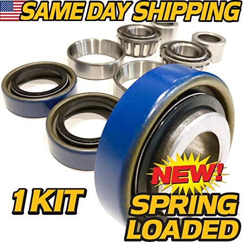 (1 KIT) Scag 482622, 43584 Front Wheel Bearing Rebuild Kit Turf Tiger - OEM Upgraded Seals ! - HD Switch ()