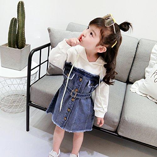 Costuras Niños white Niñas Jersey Las Denim XIU RONG Visten Falda Baby 1Ff8TqFw