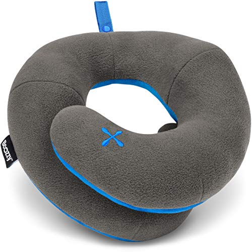 BCOZZY Chin Supporting Travel Pillow- Keeps The Head from Falling Forward - Comfortably Supports The Head, Neck and Chin in Any Sitting Position. Adult Size, Gray