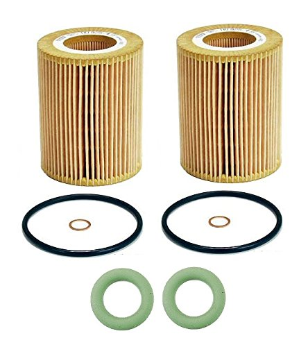 2 O-Rings & Mann Oil Filter 6 Cylinder HU925/4X BMW E36 E39 E46 E53 (Bmw 6 Cylinder)