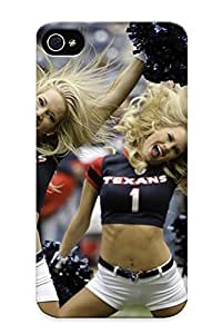 Case Provided For Iphone 4/4s Protector Case Cheerleader Nfl Football Houston Texans Phone Cover With Appearance