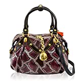Marino Orlandi Italian Designer Purple Python Leather Purse Crossbody Bag